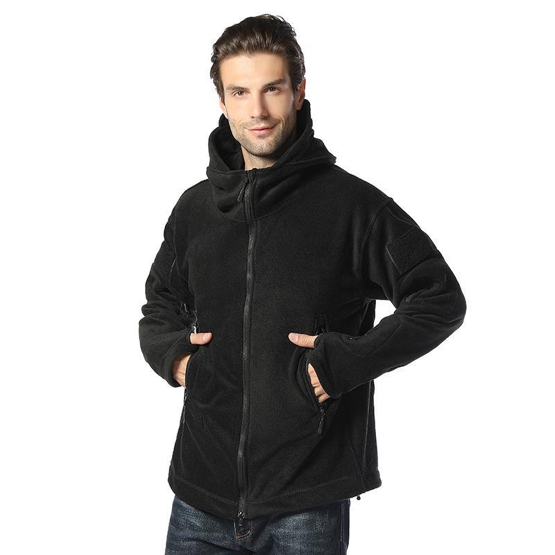 2019 nuevos hombres de invierno al aire libre táctica forro chaqueta de paño grueso y suave caliente fría capa de las chaquetas de la juventud