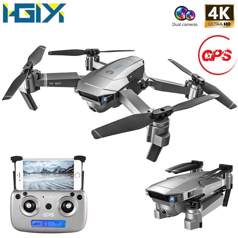 HGIYI SG907 GPS RC الطائرة بدون طيار مع 4K HD كاميرا تعديل زاوية واسعة WIFI FPV 50 مرة تكبير طوي كوادكوبتر المهنية الطائرات بدون طيار T200516