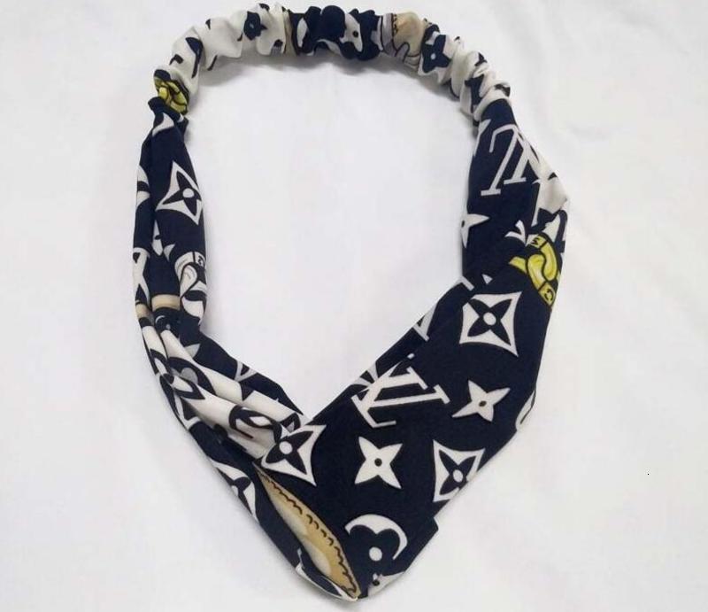 Designer Unisex fascia elastica Uomini Donne G lettera delle fasce dei capelli a strisce Fends foulard Echarpes Sport Yoga Headwrap AFJ2020