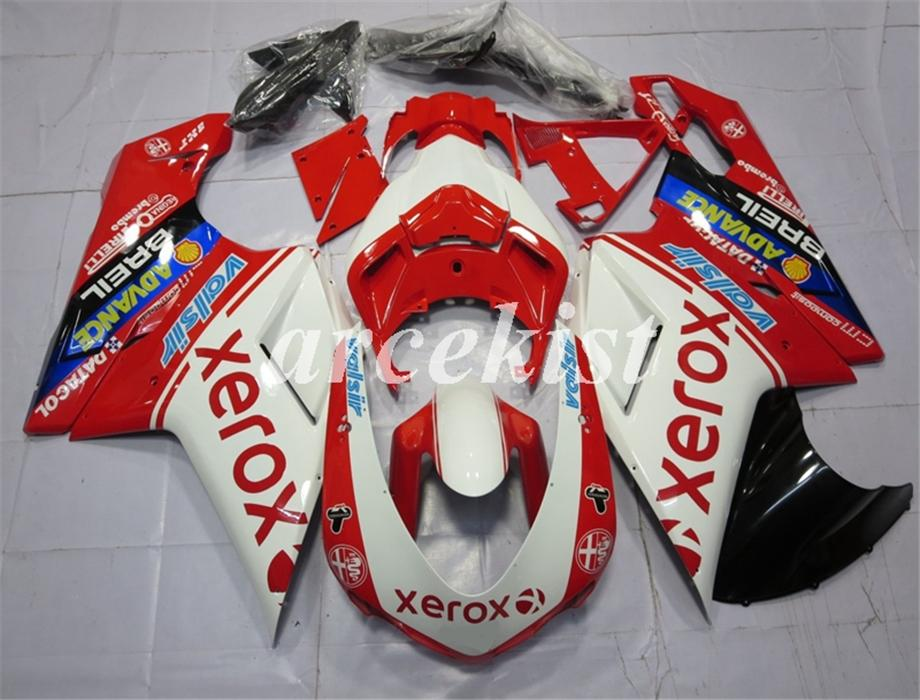 New ABS motorcycle Full Fairings set Fit For Ducati 848 1098 1198 1098s 1098R EVO 2007 2008 2009 2010 2011 2012 Free Custom Red White