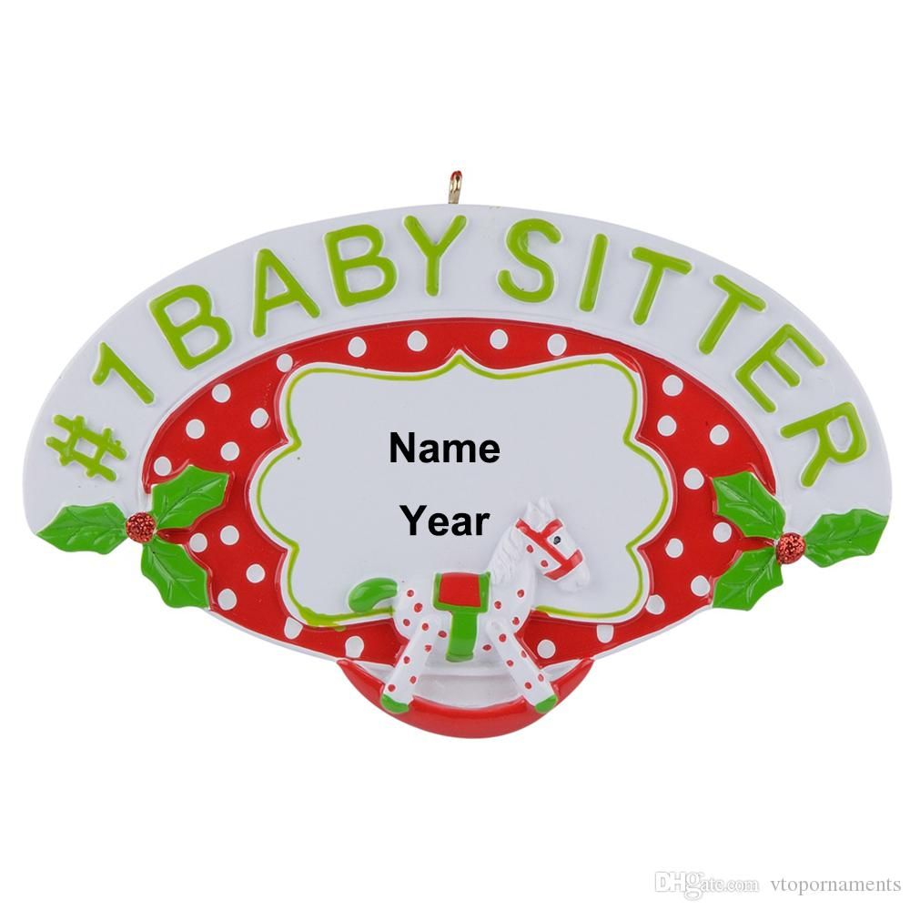 #1 Teacher Baby Sitter Uncle Favorite Nephew Niece Personalized Resin Christmas Ornaments as Handcraft Craft Souvenir for gifts home decor