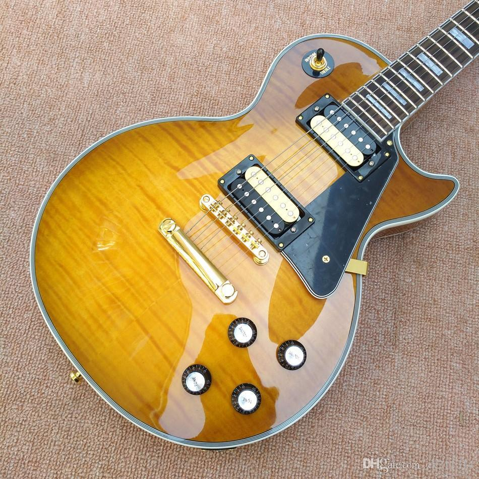 التخصيص أعلى النمر، الغيتار الأصفر LP، مختلف القيثارات الكهربائية يمكن تخصيصها
