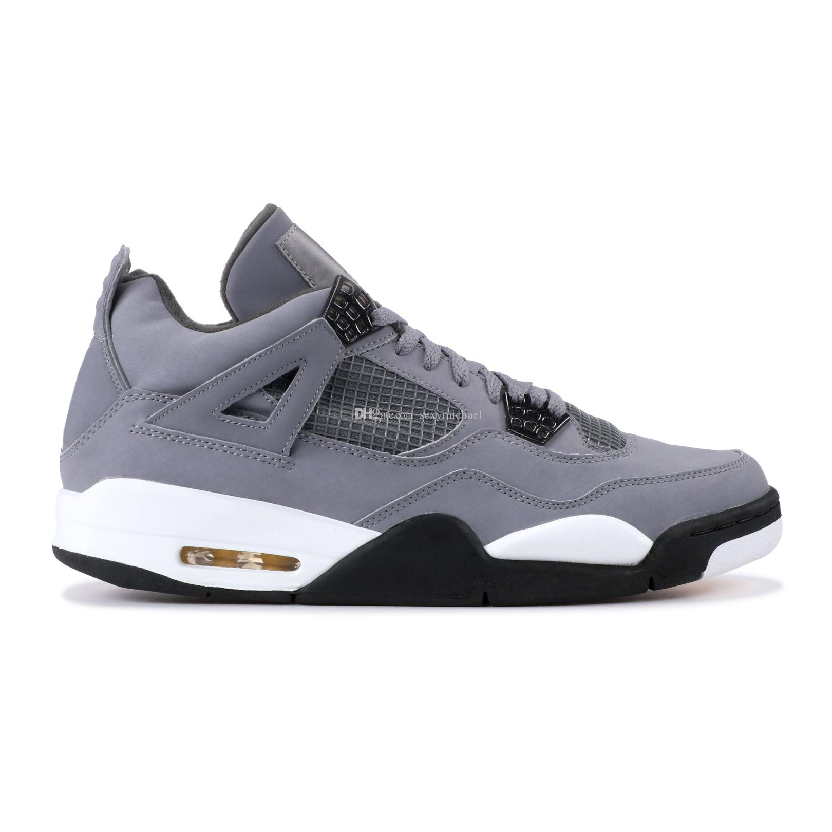 4 Cool Grey 4s Basketball Shoes Gray