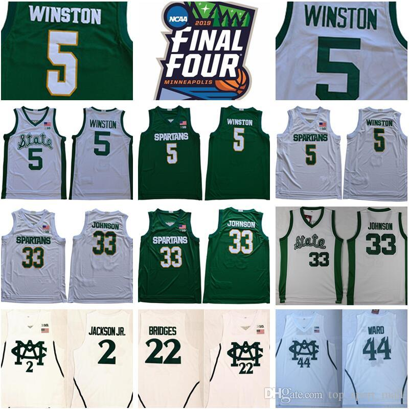 2021 NCAA Michigan State Spartans 5 Cassius Winston Jersey 33 ...