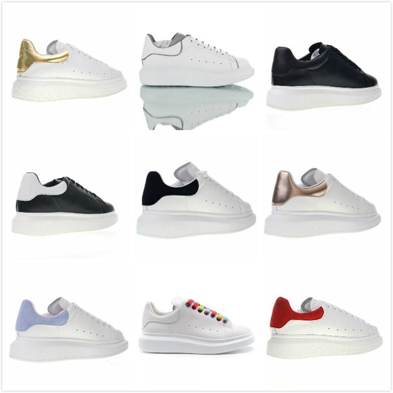 Donna Sneakers Scarpe da ginnastica di velluto di coda in pelle scarpe da fondo spesso Moda Scarpe casual migliore qualità