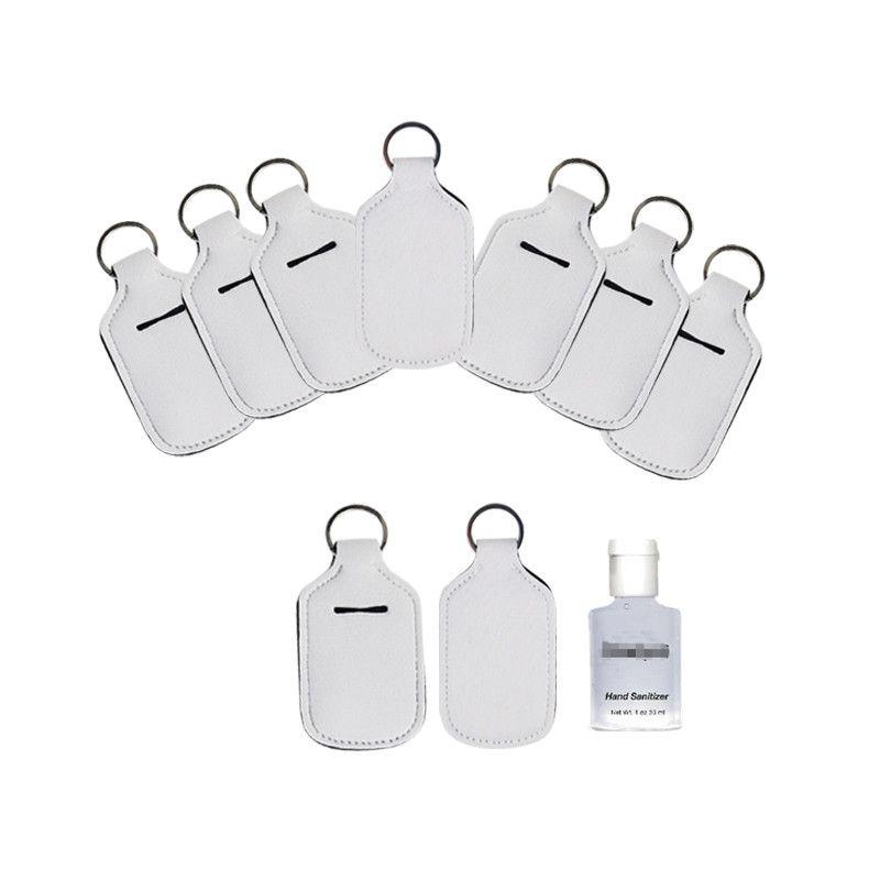 White Hand Sanitizer Holder Keychain for Party Favor 30ml Mini Bottle