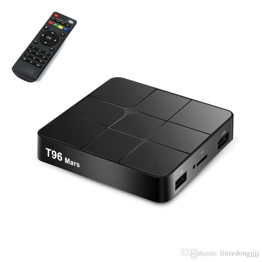 T96 Mars Smart TV Box Android 7.1 S905W Set-Top WiFi 4K VP9 H.265 DLNA HD2.0 Media Player PK X96 mini V 88