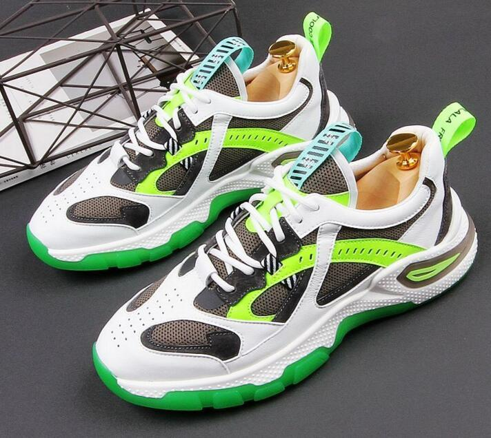2020 zapatillas de deporte de la nueva manera respirable para los hombres mezclan colores Tendencias de los calzados informales de la zapatilla de deporte juvenil Clunky Sapatos Tenis Masculino