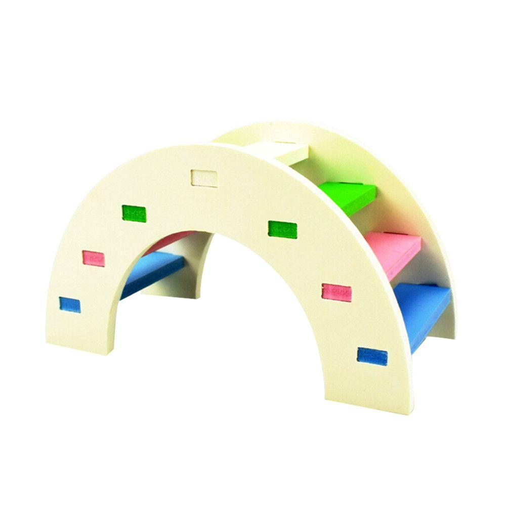 الهامستر لعب قوس قزح جسر غينيا خنزير الهامستر لعبة خشبية البدنية التدريب ألعاب تسلق السلالم الصغيرة الحيوانات الأليفة المنتجات WYY