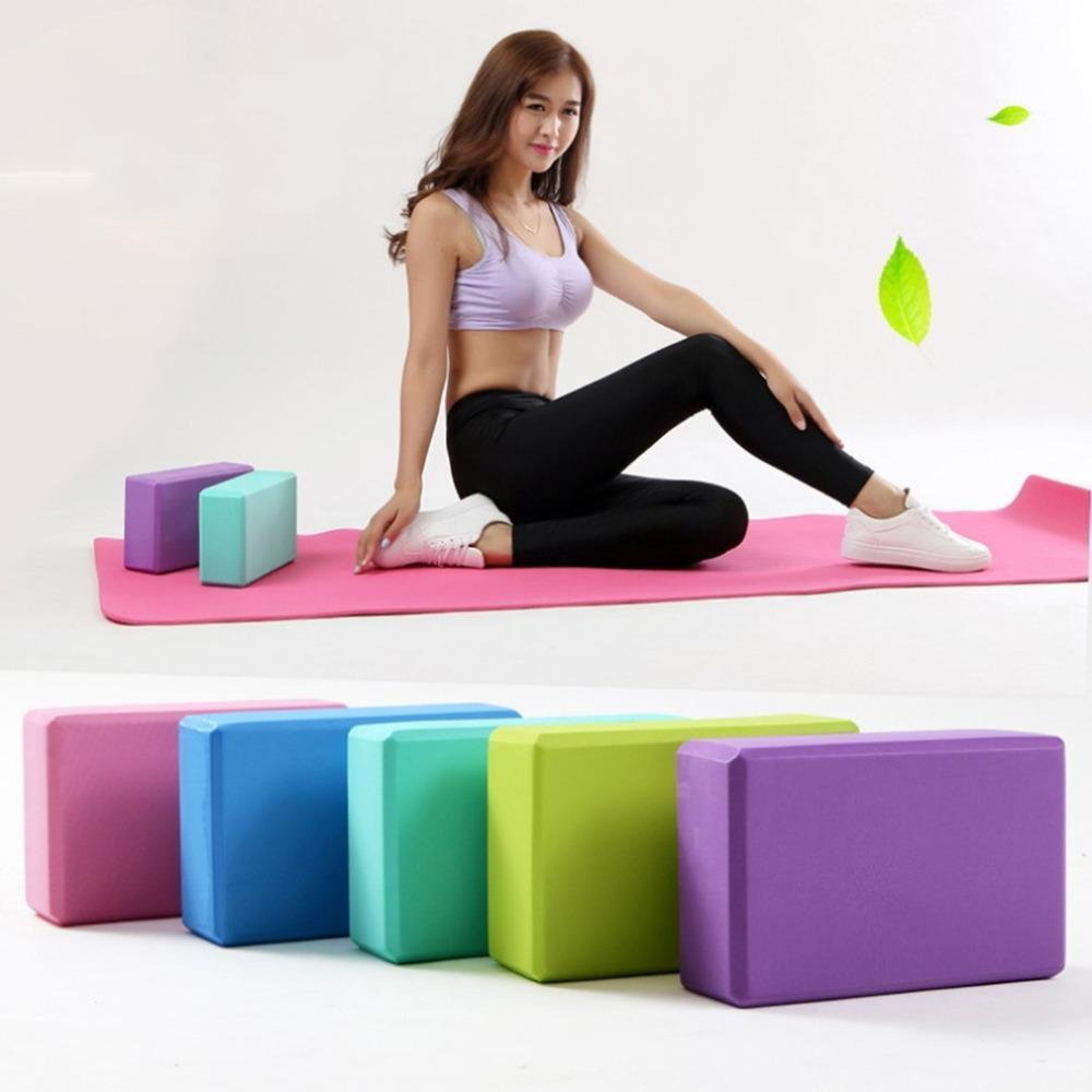 EVA Yoga Blocks Bricks High Density Foaming Foam Home Exercise Fitness Health Gym Practice Tool Stretching Aid Body Shaping Training FY6038