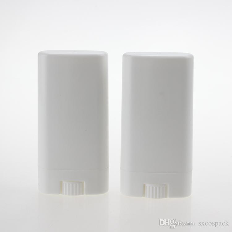 Toptan beyaz / açık plastik bir deodoran çubuğunun kap 15ml beyaz ruj tüp, 50 adet plastik ambalaj 15g deodorant