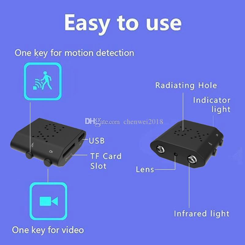 X2 Smallest Mini Camera IR-CUT mini Camera HD 1080P IR Night Version Monitor Voice recorder X2 Motion detection Mini Camcorder