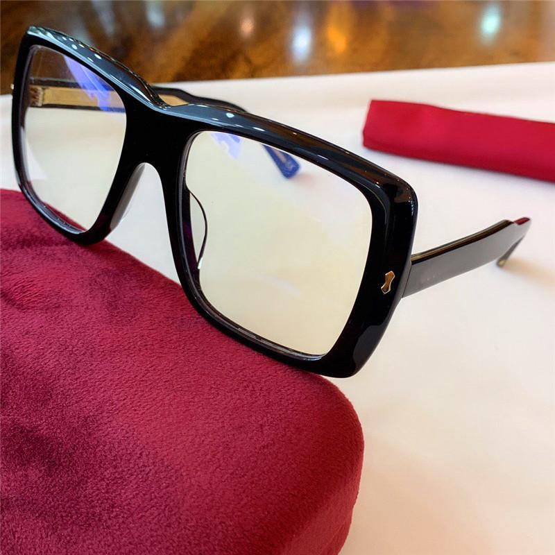 2020 الموضة الجديدة النظارات الشمسية شعبية 0366 النظارات الشمسية إطار مربع أو البصريات والنظارات ذات جودة عالية أسلوب بسيط حماية danb النظارات مع مربع