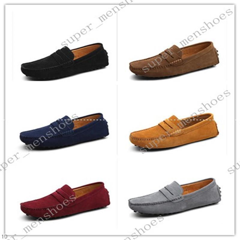 2020 große Größe 38-49 neue Schuhe Überschuhe Ledermann der Männer britischer Freizeitschuh schwarz braun mehrfarbige Schuhe seventeenone