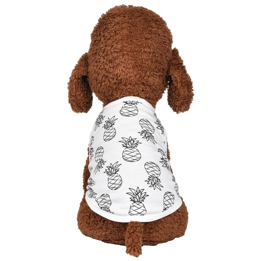 Yaz yenilik eğlence için 1PC köpek t shirt yelek ceket S-XL renkli evcil köpek giysileri çizgili baskılı küçük köpek kat arasında syf9