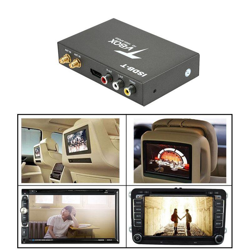 TV T518 ISDB-T سيارة الرقمية صندوق استقبال HD مراقب PAL NTSC موالف التلفزيون التناظرية استقبال مع هوائي التحكم عن بعد عدة GPS