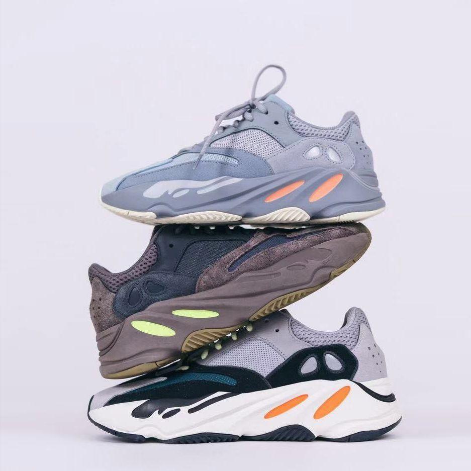 Kanye West Chaussures de course 2020 New Vanta statique réfléchissant Hommes Femmes mauves vague de sport 700s sport Chaussures de sport Designer