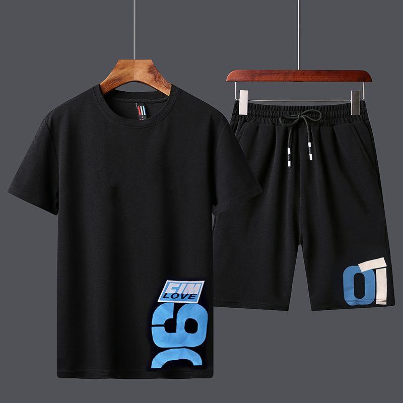2020 fatos de treino Sport Conjunto de Homens de Verão camisetas Shorts Conjuntos de poliéster tracksuits T-shirt Bermuda Masculina Board Shorts Impresso