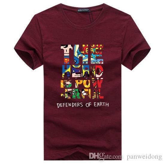 Hot Men T Shirt Мода Брендовая одежда Мужская с коротким рукавом Футболка Хлопок Эластичность Повседневная футболка Мужской O-образным вырезом