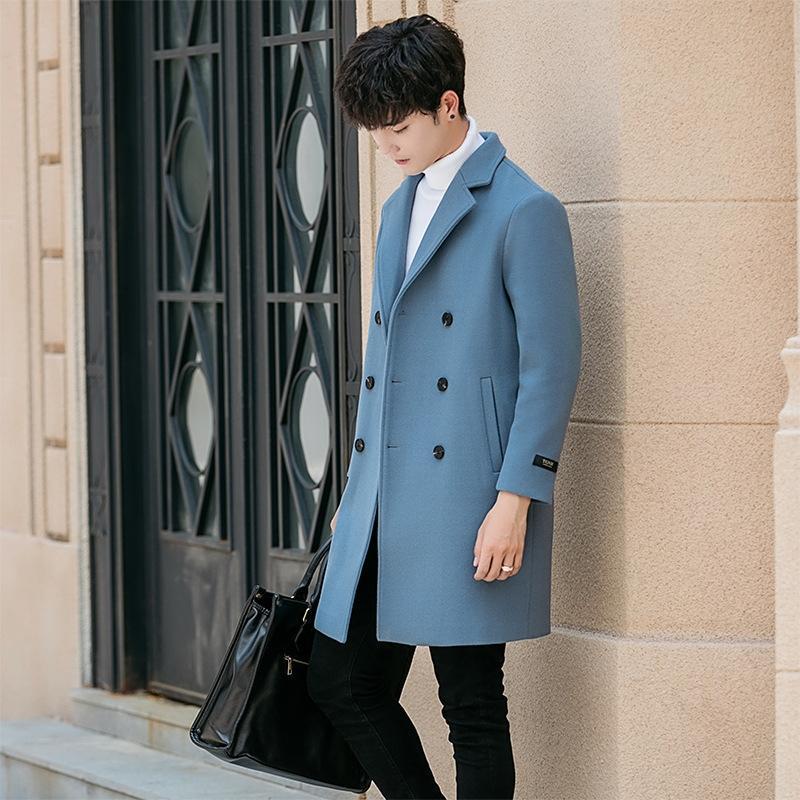 zUeDb Windbreaker l'autunno e British negoziante maschile di lana di media lunghezza 2019 cappotto di lana woolwoolen cappotto giacca a vento