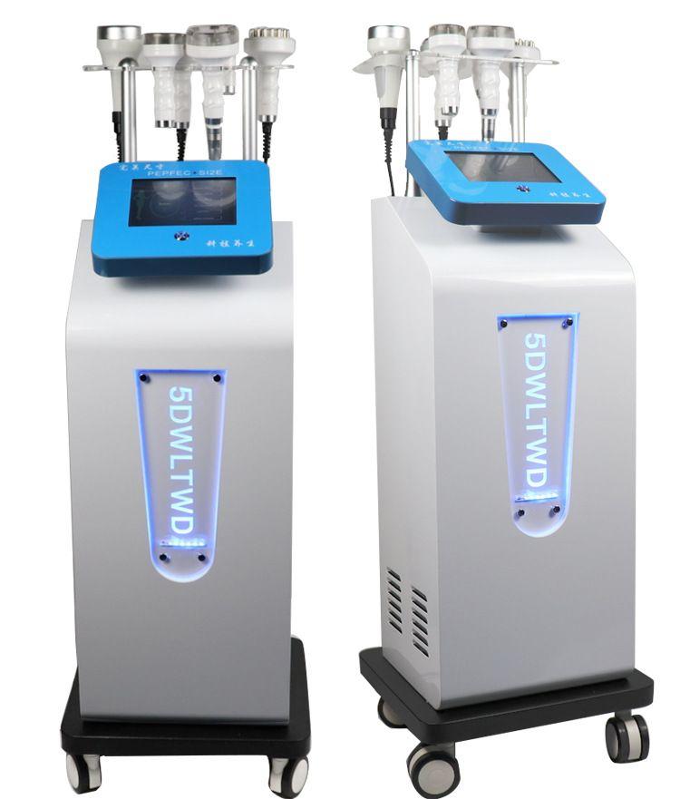 Cumpping Terapi Makine ultrasonik kavitasyon 5D Zayıflama makinası yağ patlatma şekillendirme Enstrüman Rf Vakum gövdesini Oyma