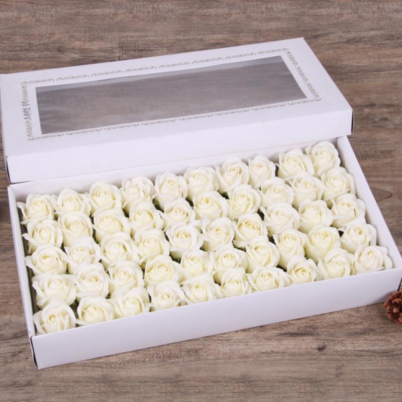 50pcs / caixa baratos Sabão Rosa Chefes romântico do casamento dos Namorados presente do dia banquete do casamento Decoração segurando flores