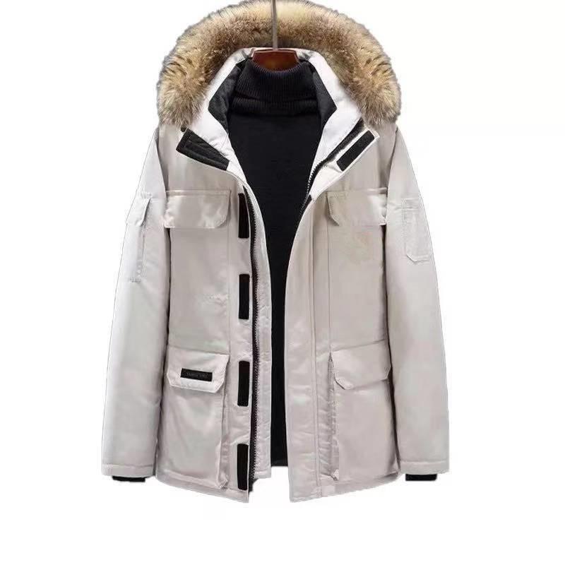 -30Celsius alta calidad por la chaqueta de Mantener caliente de los hombres de alta calidad de Invierno - 30c caliente hacia abajo camuflaje capa de nieve del invierno de los hombres de la chaqueta w