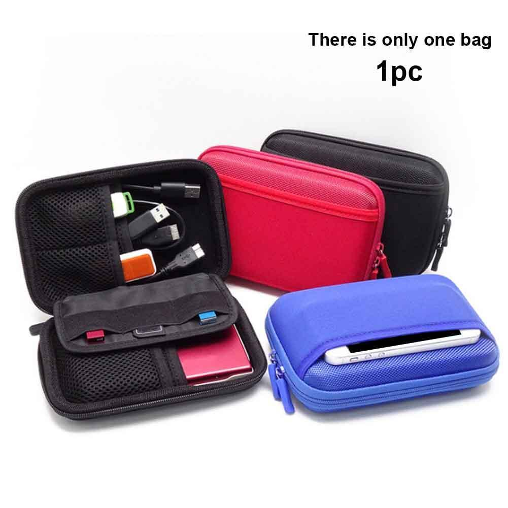 Portable Digital Storage Bag Data Cable Organizer Case Earphone Wire Cover Pouch