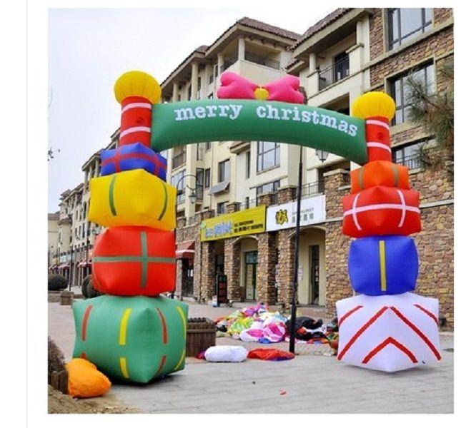 2020 heißen Verkauf Weihnachtsgeschenkkasten Bogen Werbung Inflatables 6 m breit hochwertige