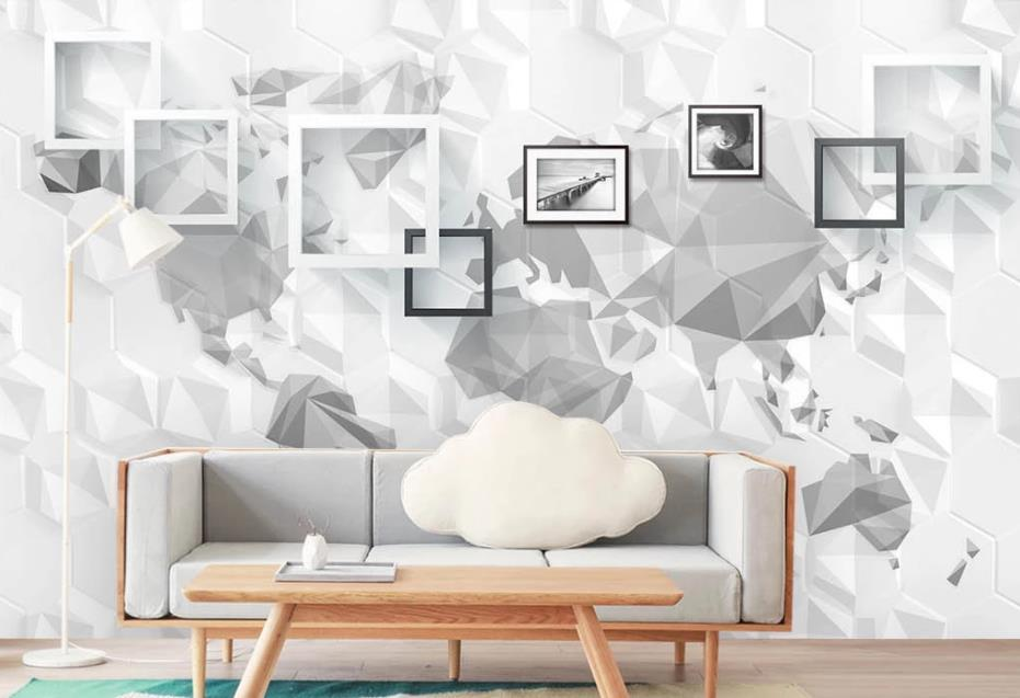 Modern Minimalist Box World Tv Background Wall 3d Murals Wallpaper For Living Room Contemporary Wallpaper Cool Wallpapers From Catherine198809100 5 81 Dhgate Com