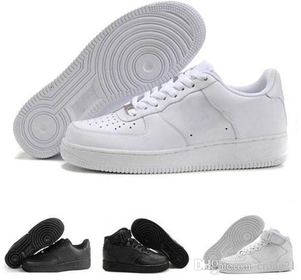 Moda Açık Eğitmenler Sneakers Erkekler Kadınlar Flyline Spor Kaykay Ones Ayakkabı Yüksek Düşük Kesim Siyah Beyaz Sneakers US5.5-12 Ayakkabı Koşu