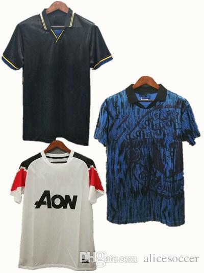 ^ _ ^ Maglia da calcio Retro Backham Cantona Ronaldo Uomo Maglia da calcio Futbol Camisa Classic Camisetas Vintage Camicia Maillot Utd Maglia camicie