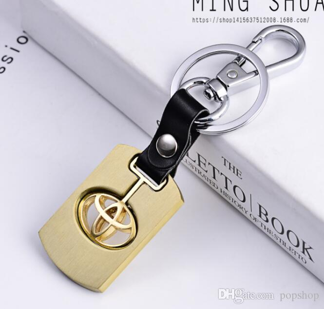 Automotive Car Logo Leather Metal Zinc Alloy Key Chains Key ring for All Models