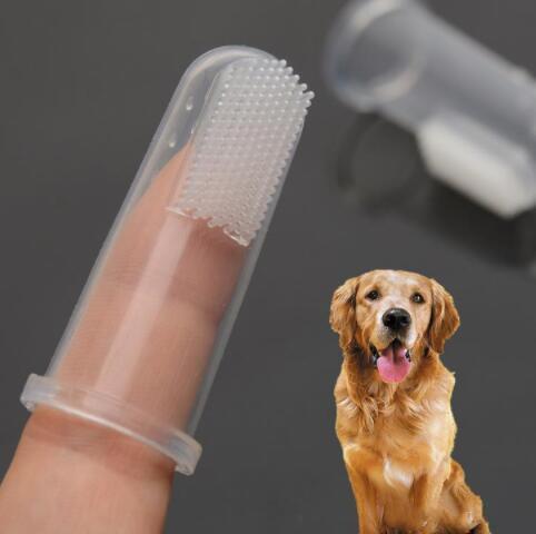 Finger Brosse à dents de chien Super Soft Pet doigt brosse pour chien mauvaise haleine tartares dents outil de nettoyage pour chien chat fournitures pour animaux Hygiène soins des dents YP389