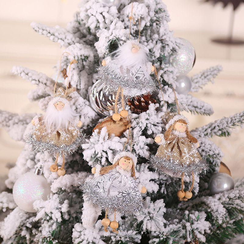 Christmas Wooden Linen Hanging Decoration Home Cute Ornament for Christmas Tree Festival Party Celebration Accessories