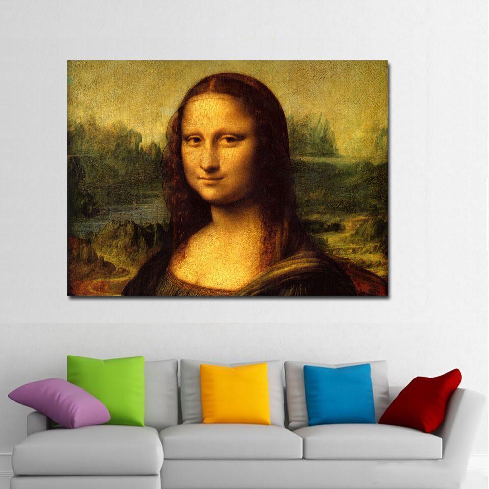 Large photo landscape art  A0 canavs print  Mona Lisa  vintage painting