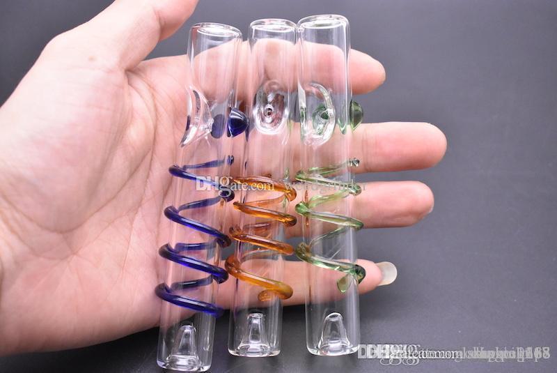 Neuester Entwurf dick berauschende Labs Spirale Glas Tabakrohr für das Rauchen trockenes Krauts