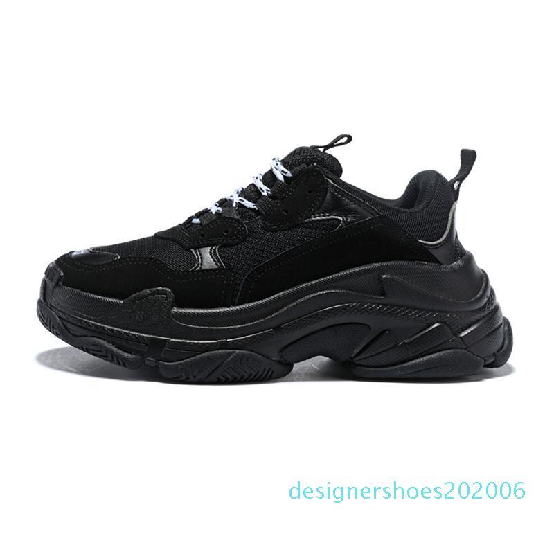 Sneakers designer de moda Paris 17FW Triple S para homens mulheres preto vermelho rosa Casual Dad luxo tênis aumentando D06 green shoe