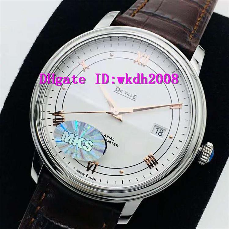 MKS V6 Top Mens relógios suíços 9015 Esporte Automatic Assista 28800 vph Data Sapphire aço inoxidável 316L Relógio de pulso Itália Leather Strap