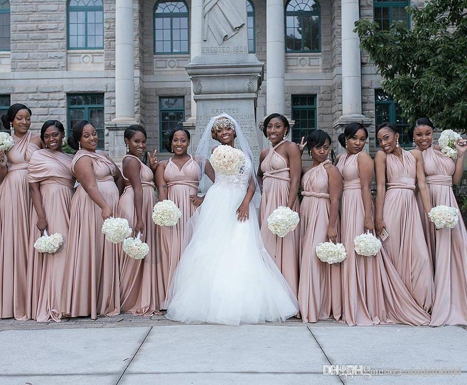 Конвертируемые платья шифон платья невесты платья смешанные стили горничные честь свадьба гость платье на заказ Plus размер DIY SB059