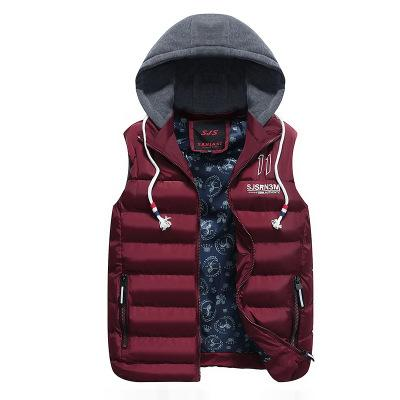 New Mens Winter Sleeveless Jackets Fashion Casual Thick Vests Men Hoodie Coats Male Cotton Padded Warm Slim Waistcoat