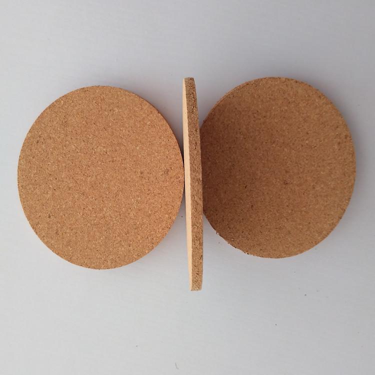 라운드 일반 코르크 컵 받침 와인 매트 열 절연 음료 컵 매트 목재 라운드 모양의 코르크 패드 커피 컵 매트 테이블 장식 GGA2686