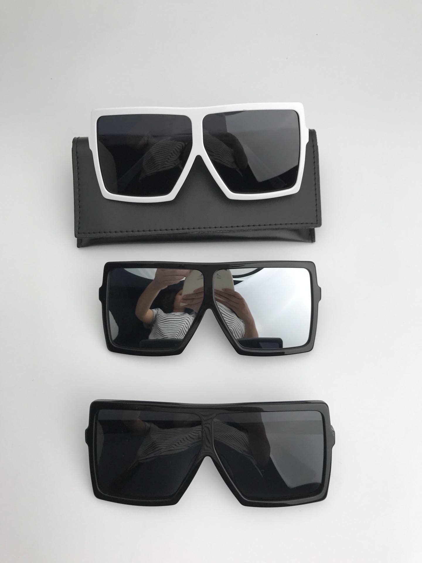Lüks-183 Boy Güneş Gözlüğü Beyaz çerçeve Gri gölgeli Lensler gafa de sol Sonnenbrille tasarımcı erkekler Marka Güneş Gözlüğü yaz Yeni ile kutu