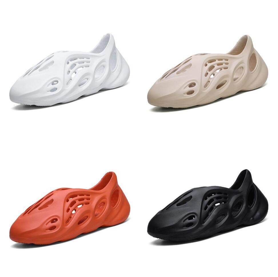 2020 35-45 v2 oeste zapatos rojos Deporte Runnning negro esqueleto óseo espuma Runner Zapatillas Kanye verano sandalias de playa Corredor Corredor zapatillas de deporte