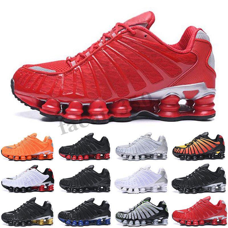 Nike Shox TL 2020 neue Ankunft TL Männer Schuhe Triple Black Weiß, Schwarz, Grau Ton orange Sonnenaufgang Geschwindigkeit Red Trainer-Sport-Turnschuh Größe 40-46 laufen SC03
