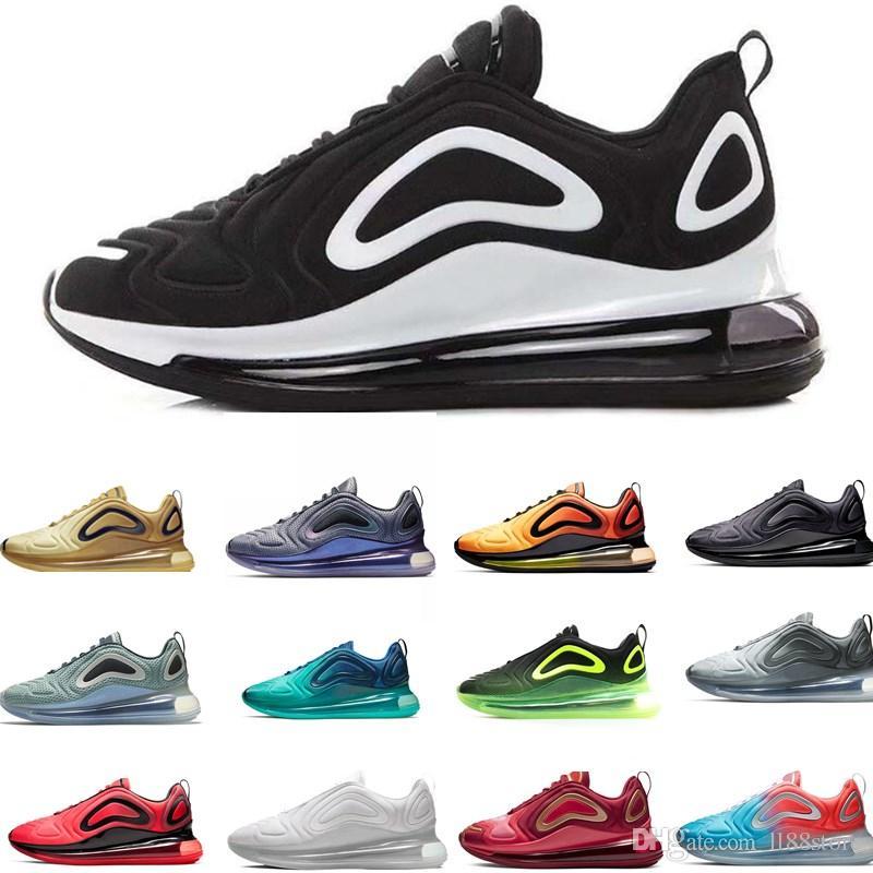 Compre Nike Air Max Airmax 720 2020 Zapatos Betrue Pride Hombres Mujeres  Ser Cierto Tamaño De La Bandera Del Arco Iris Multi Triple Negro De Gilbert  ...