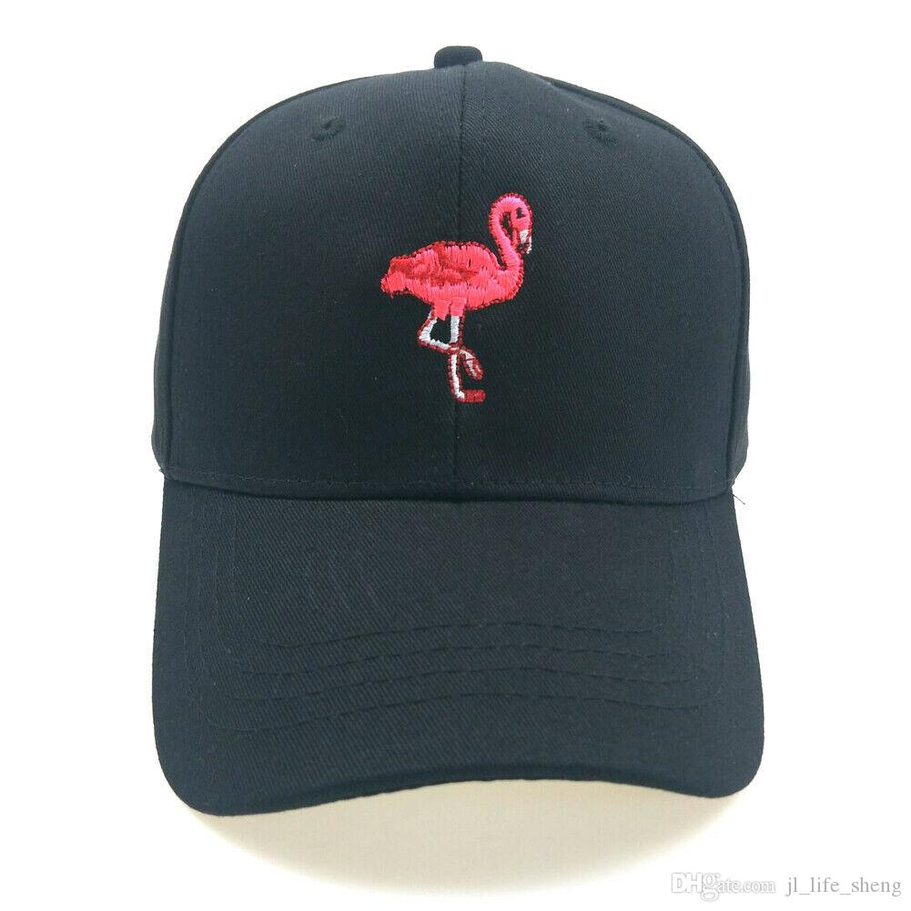 Custom Snapback Hats for Men /& Women Cartoon White Flamingo Embroidery Cotton
