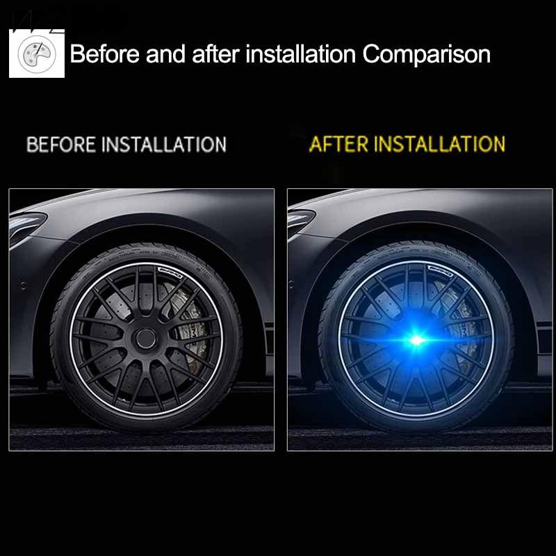 4PCS محور ضوء عجلات سيارة قبعات ضوء العائمة الإضاءة LED ضوء مركز الغلاف الإضاءة كاب لسيارات BMW E46 / E60 / E39 / E90 / F30 / F10