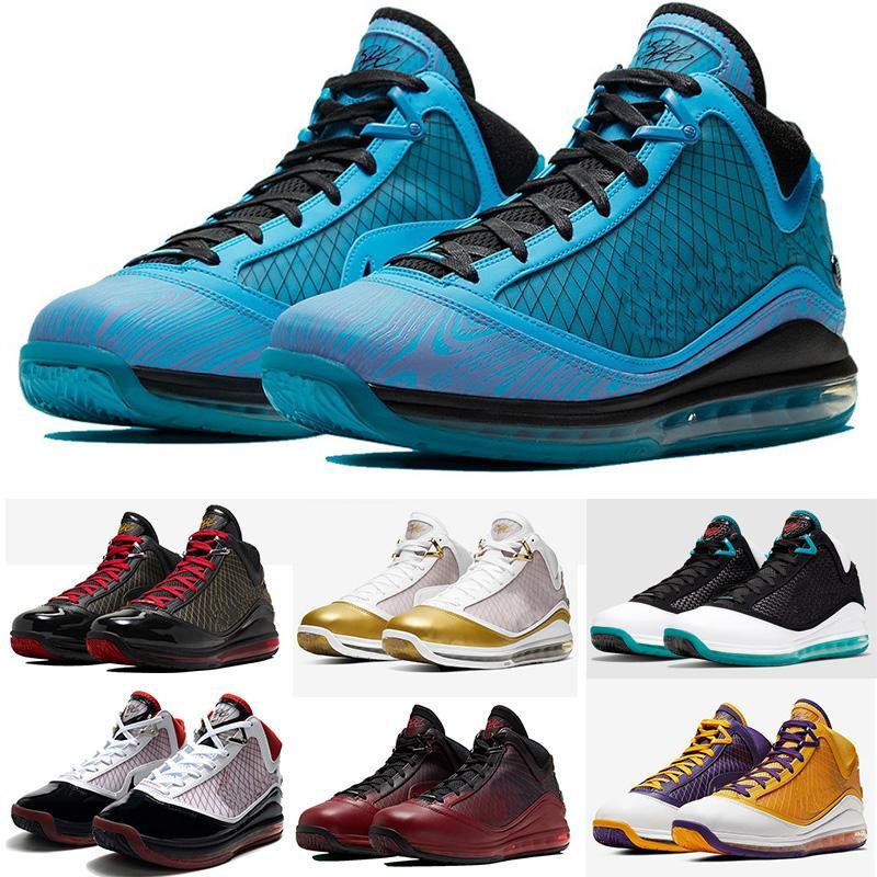 LeBrons 7 Fairfax Varsity Red homens de basquete sapatos 7s frescas criados rei equalit Lightyear dos homens do desenhista tênis treinadores desportivos 40-46