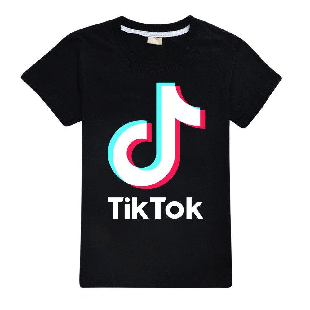 2020 Tik Tok Shirts Kids Fashion Tees Tops Tiktok Cotton Black Pink Red Purple T Shirts For Teen Boys Girls From Baby0512 13 97 Dhgate Com